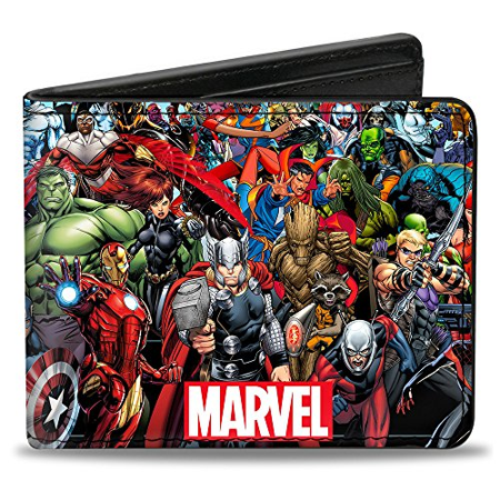 Jane Marvel Wallet (Men'sMarvel Universe wallet Marvel Universe Heroes & Villains Po, -Multi, One)
