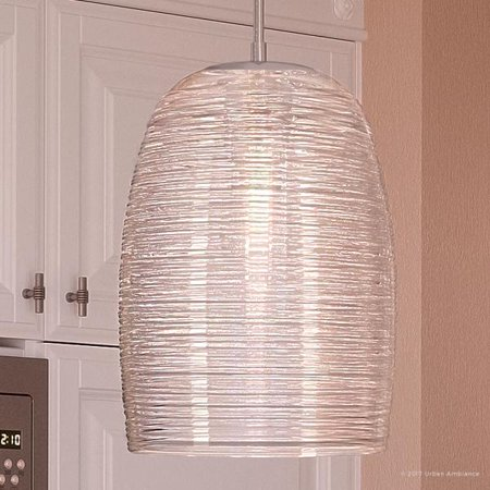 Contemporary Hanging Lights - Urban Ambiance Luxury Contemporary Hanging Pendant Light, Medium Size: 16.5