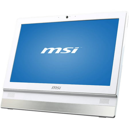 "MSI White Adora20 2BT-010US All-in-One Desktop PC with Intel Celeron J1900 Quad-Core Processor, 4GB Memory, 19.5"" Display, 500GB Hard Drive and Windows 8.1"