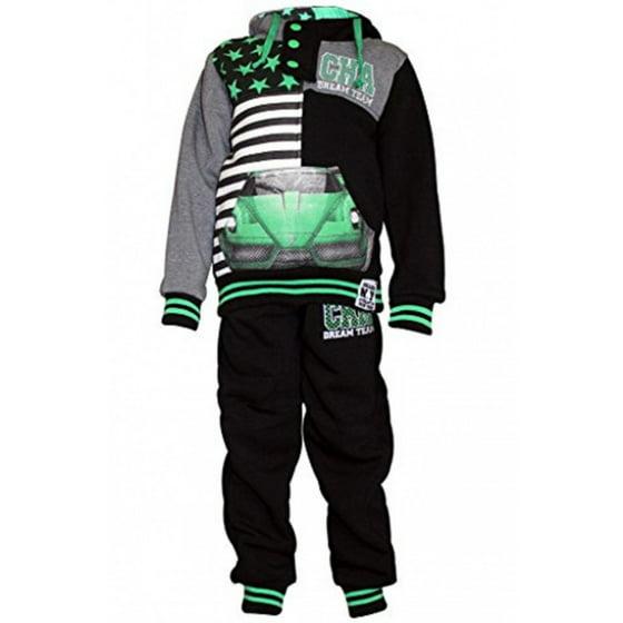 aa776ce3f Skylinewears - Skylinewears Kids Boys Sweatsuit Tracksuit Hooded Two Piece  Set Star Car Navy 6 - Walmart.com