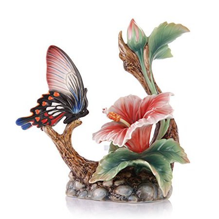 - Franz Porcelain - Figurine - Wonderful Life Butterfly & Hibiscus