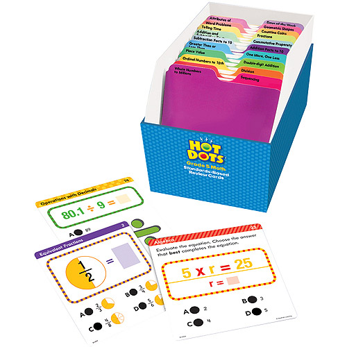 Educational Insights Hot Dots Math Standards-Based Review Cards—Grade 5