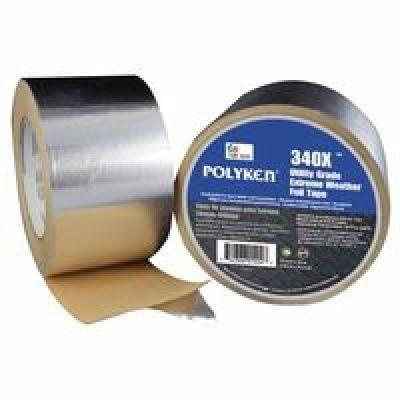 335FT High Temperature Flue Tape, 72 mm X 46 m, 3.8 mil, Aluminum