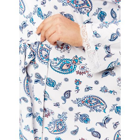 Gloria Vanderbilt Women's Sleep Robe | Bathrobe with Lace Detail SIze M - image 3 of 5