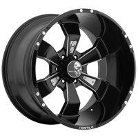 "20"" Inch Hostile H103 Hammered 20x12 6x135 -44mm Black/Milled Wheel Rim"