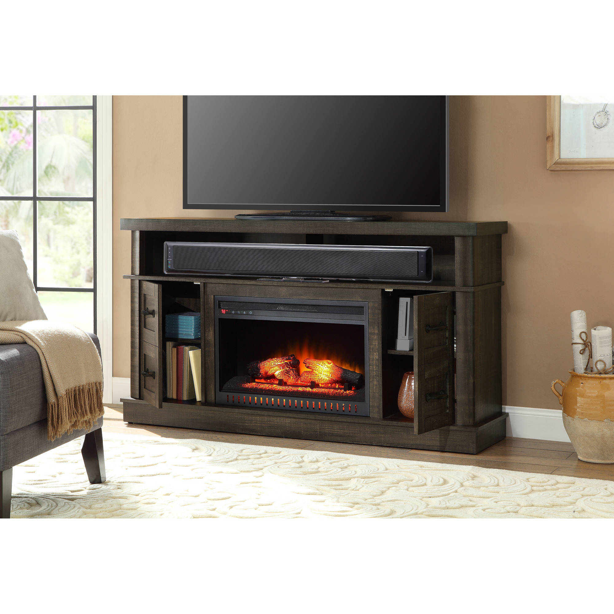 Whalen Media Fireplace Console Reviews Fireplaces