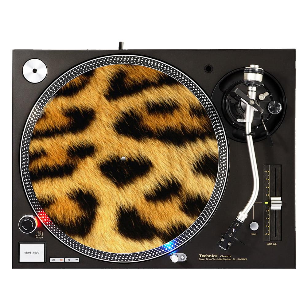 "KuzmarK™ 12"" DJ Turntable Slipmat - Leopard"