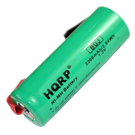 HQRP Replacement Battery for Braun Oral-B 3731 ProCare Triumph 9000, 9400, 9500, 9900 Toothbrush Repair 2200mAh NiMH 1.2V 48mm Long + HQRP Coaster