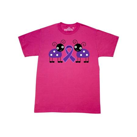 Purple Awareness Ribbon Alzheimers Lupus T-Shirt (Alzheimers Awareness)