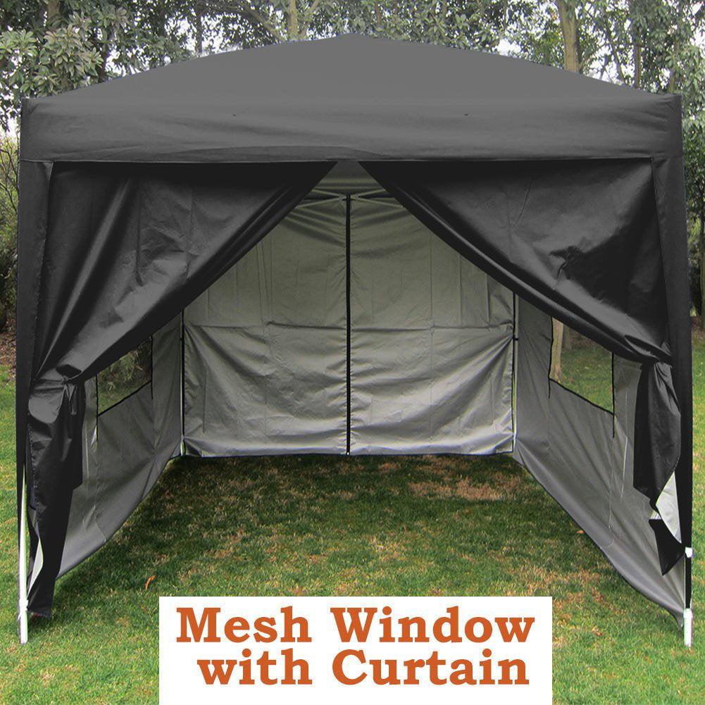 Big Sales!Quictent Privacy Mesh Curtain 8'x8' Black EZ Pop Up