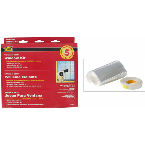 "M-D Products 04200 Shrink and Seal Indoor Window Kits, 62"" x 210"