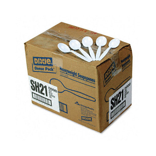 Dixie Plastic Cutlery, Heavyweight Soup Spoons, 1000/Carton