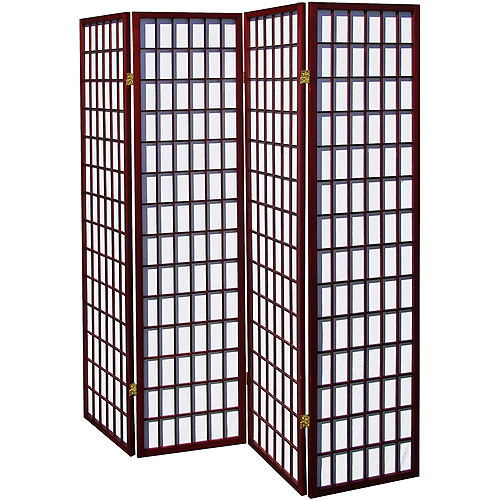 4-Panel Room Divider, Cherry