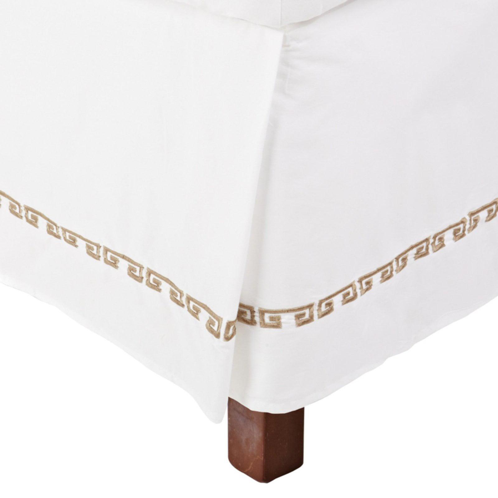 Superior Kendell Greek Border Cotton Bedskirt by Supplier Generic