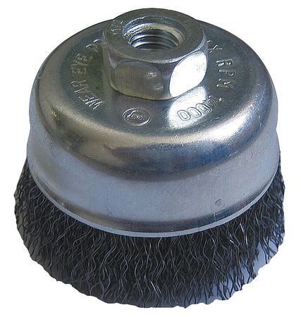 "Westward 4ECZ4 7/8""L Crimped Wire Cup Brush"