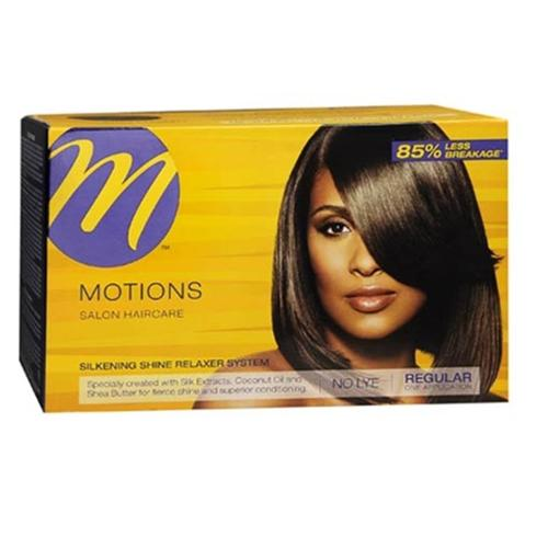 Motions Silkening Shine No Lye Relaxer System Regular Kit (Pack of 2)