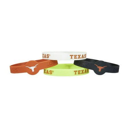 Texas Am Aggies Bracelets - NCAA CCPBC-283-52 Texas Longhorns Silicone/Rubber Bracelets Pack Of 4