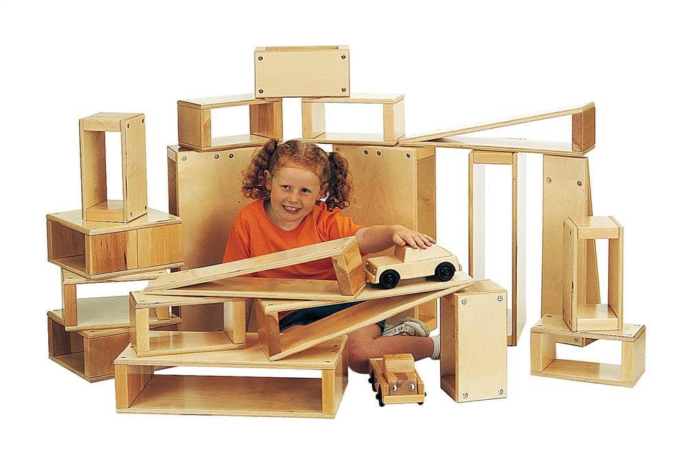 Jonti Craft 12 Pc Large Shape Block Set by Jonti-Craft