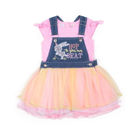 Bunny Unicorn Denim Glittler Tulle Tutu Skirtall and Tee, 2-Piece Outfit Set (Little Girls)](First Day Of School Outfits)