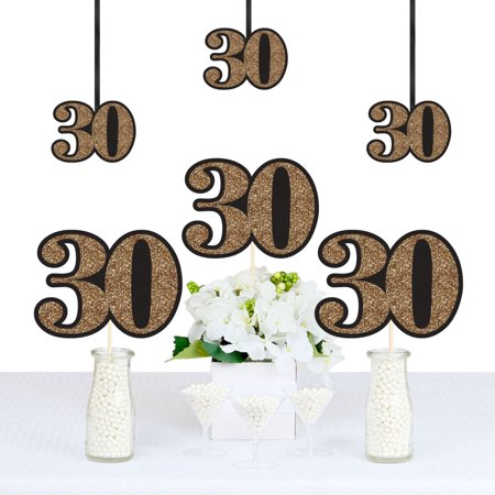 30th Birthday Party Decorations (Adult 30th Birthday - Gold - Decorations DIY Party Essentials - Set of)