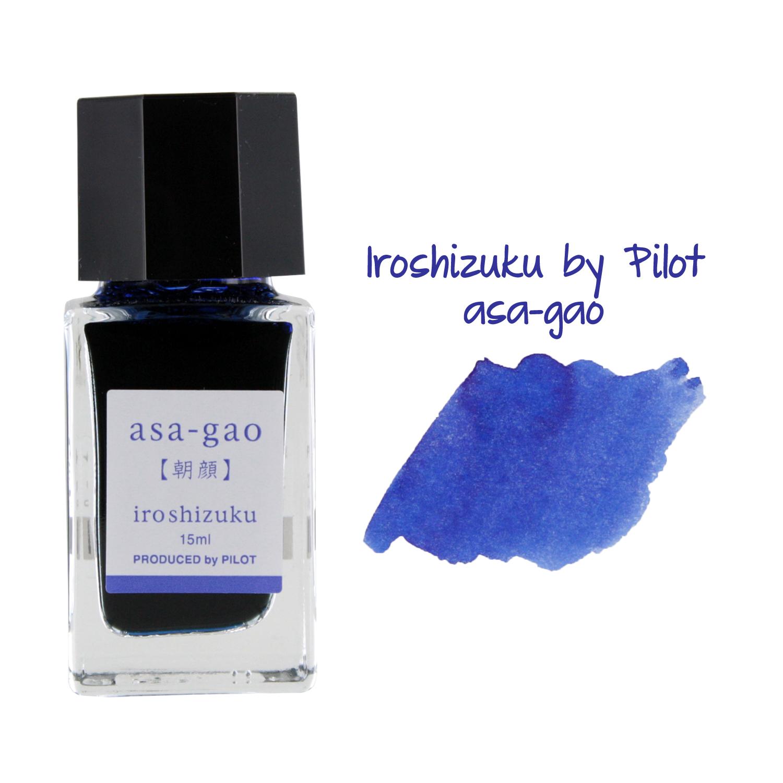 Pilot Iroshizuku Mini Fountain Pen Bottled Ink, 15ml, Asa-Gao
