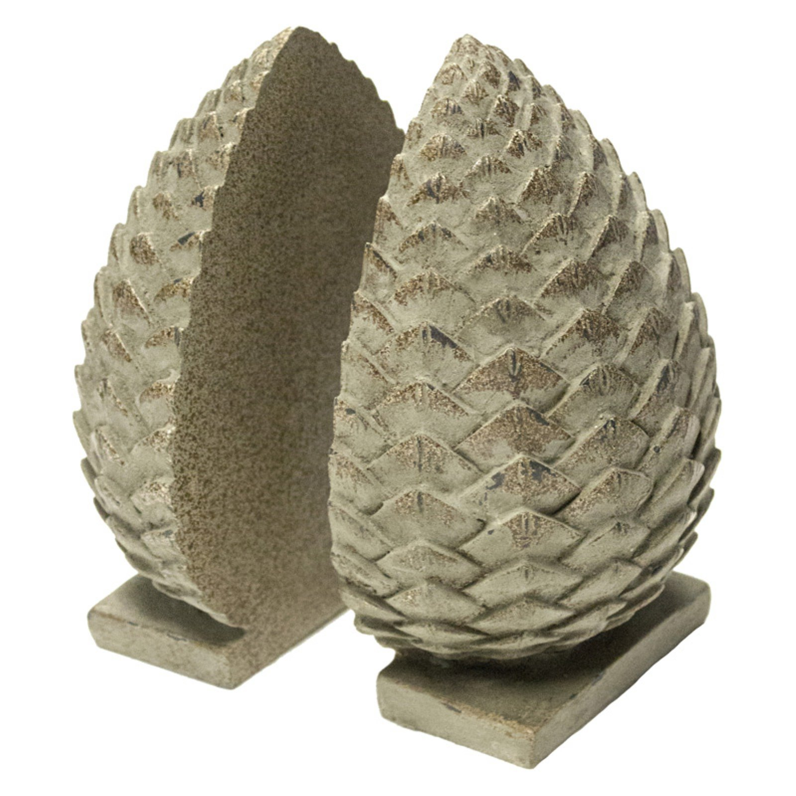 Sagebrook Home Pinecone Bookends