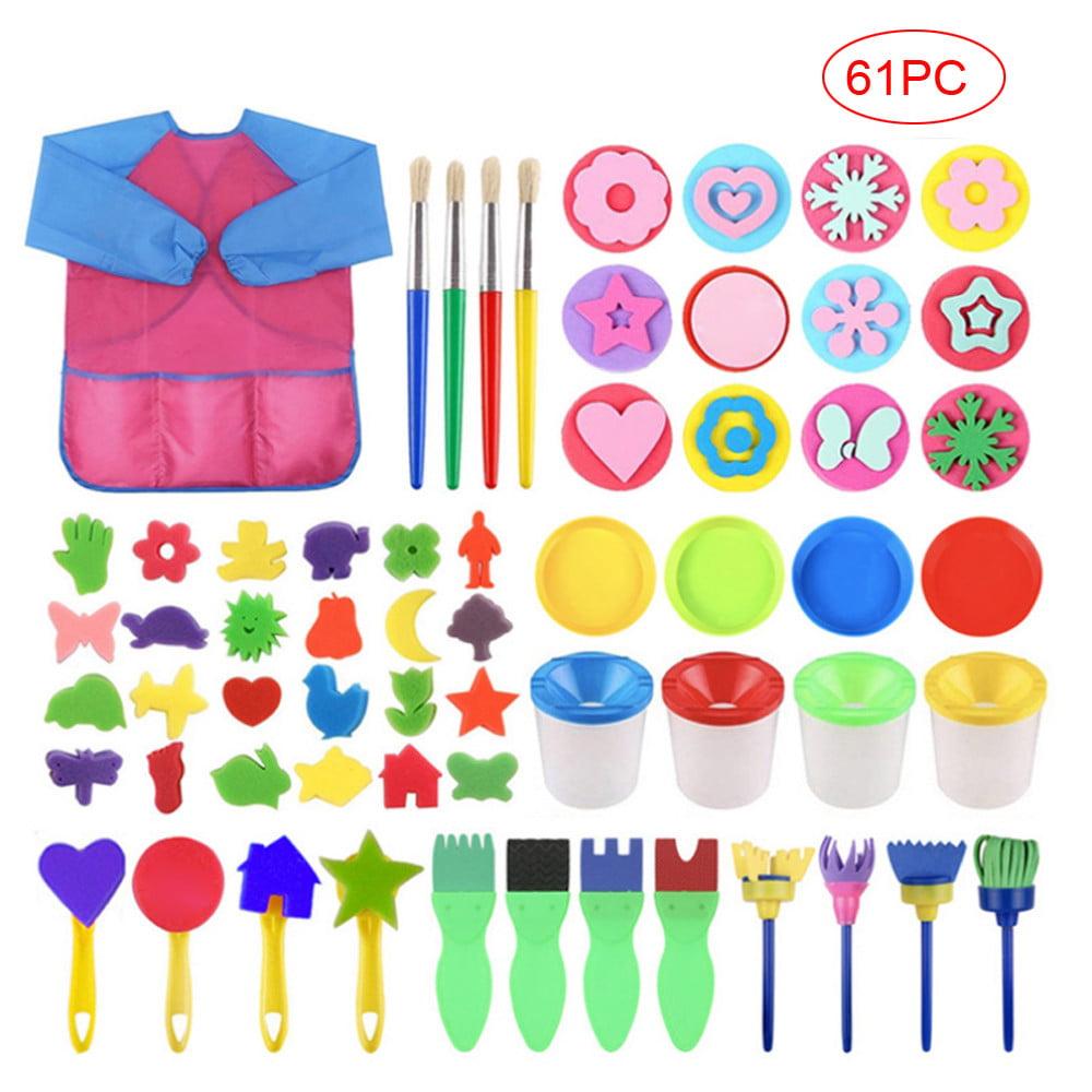 "DIY// Kids 12 Arts /& Crafts 6 24 x Multi-Purpose Paint Brushes 1/"" or 3/"""