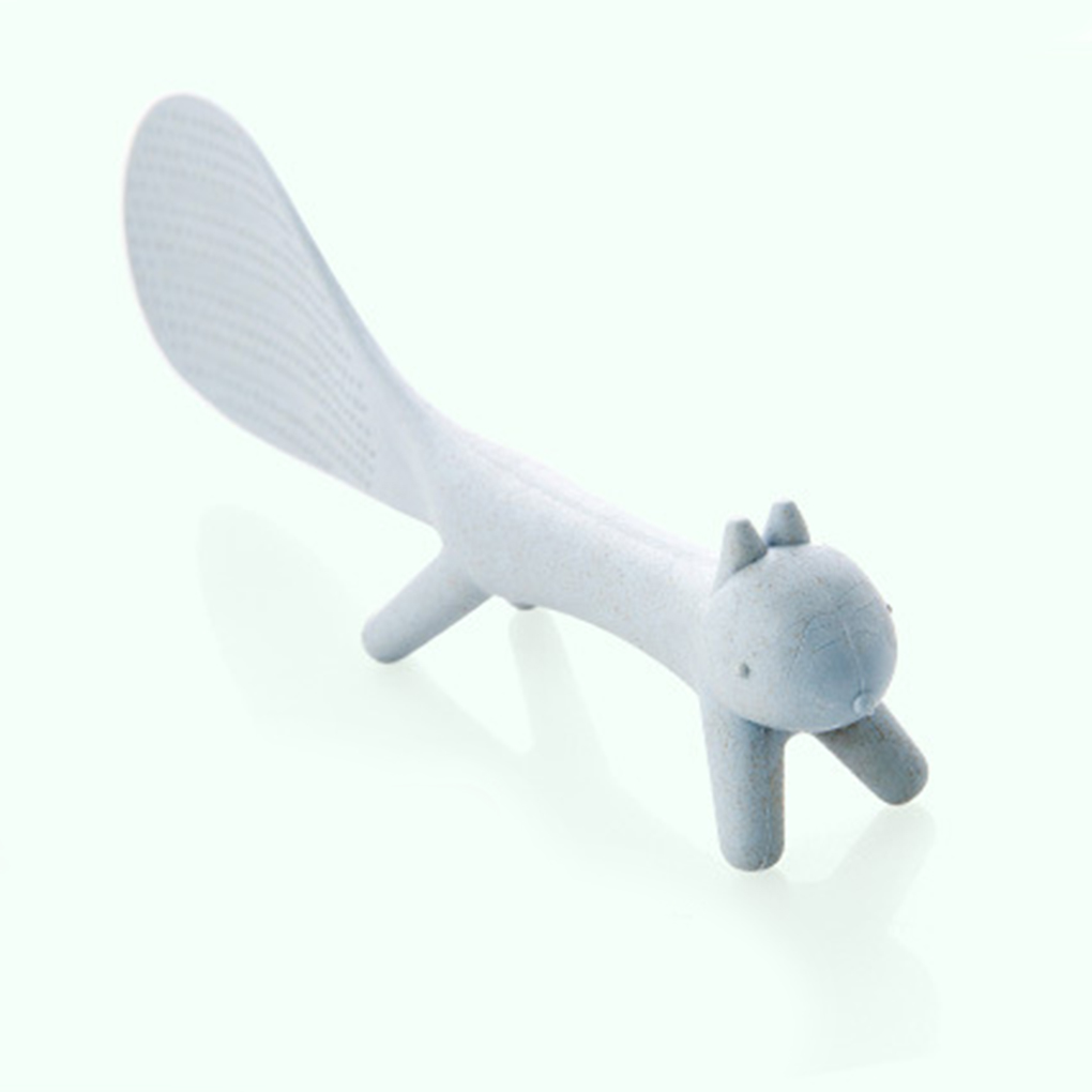 Aiasiry Creative Squirrel Shape Standing Spoon Non-Stick Rice Paddle Spoons Kitchen Tool,White