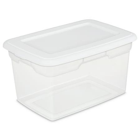 Sterilite 20 Quart Storage Box  White  Available In Case Of 6 Of Single Unit