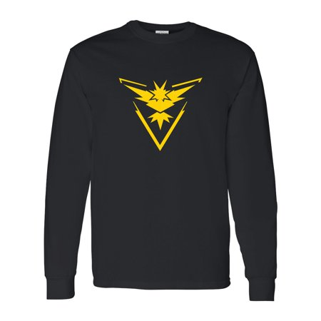 Pokemon Team Instinct Yellow Boys Girls Long Sleeve Shirt (Game Boy Pokemon Gold)