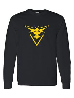 Pokemon Team Instinct Yellow Boys Girls Long Sleeve Shirt