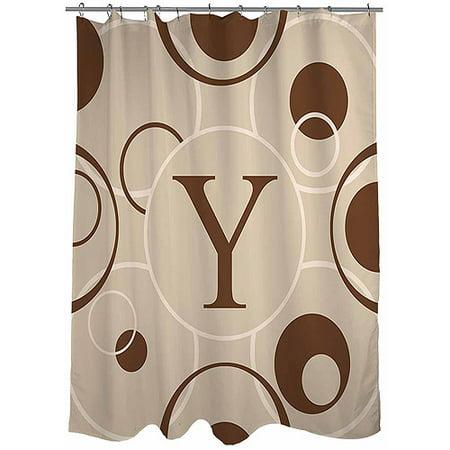 Thumbprintz Circle Variations Monogram Shower Curtain Neutral
