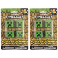 Minecraft Pencil Top Erasers, 8ct