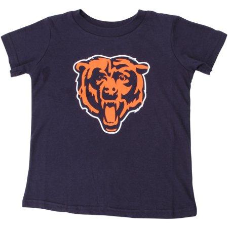 Navy Blue Toddler T-shirt - Chicago Bears Toddler Team Logo T-Shirt - Navy Blue
