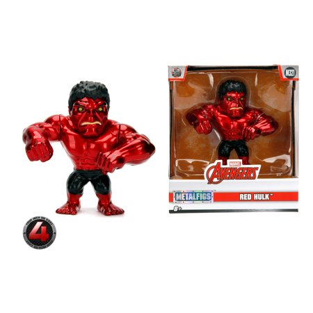 - Metalfigs 4 Inch Red Hulk Die Cast Figure by Jada Toys