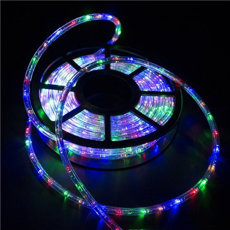 Ainfox 110v 150 Ft 2 Wire Led Rope Lights Waterproof Indoor Outdoor Use For Backyard Party Christmas Thanksgiving Decoration Colorful