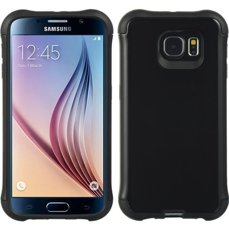 Samsung Galaxy S6 Case, by Insten Dual Layer [Shock Absorbing] Hybrid Hard Plastic/Soft TPU Rubber Case Cover For Samsung Galaxy S6