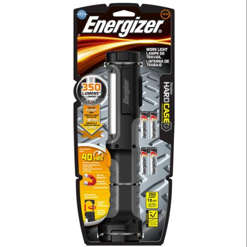 Energizer HCAL41E Hard Case Work Flashlight W/4 Aa Batteries, Black