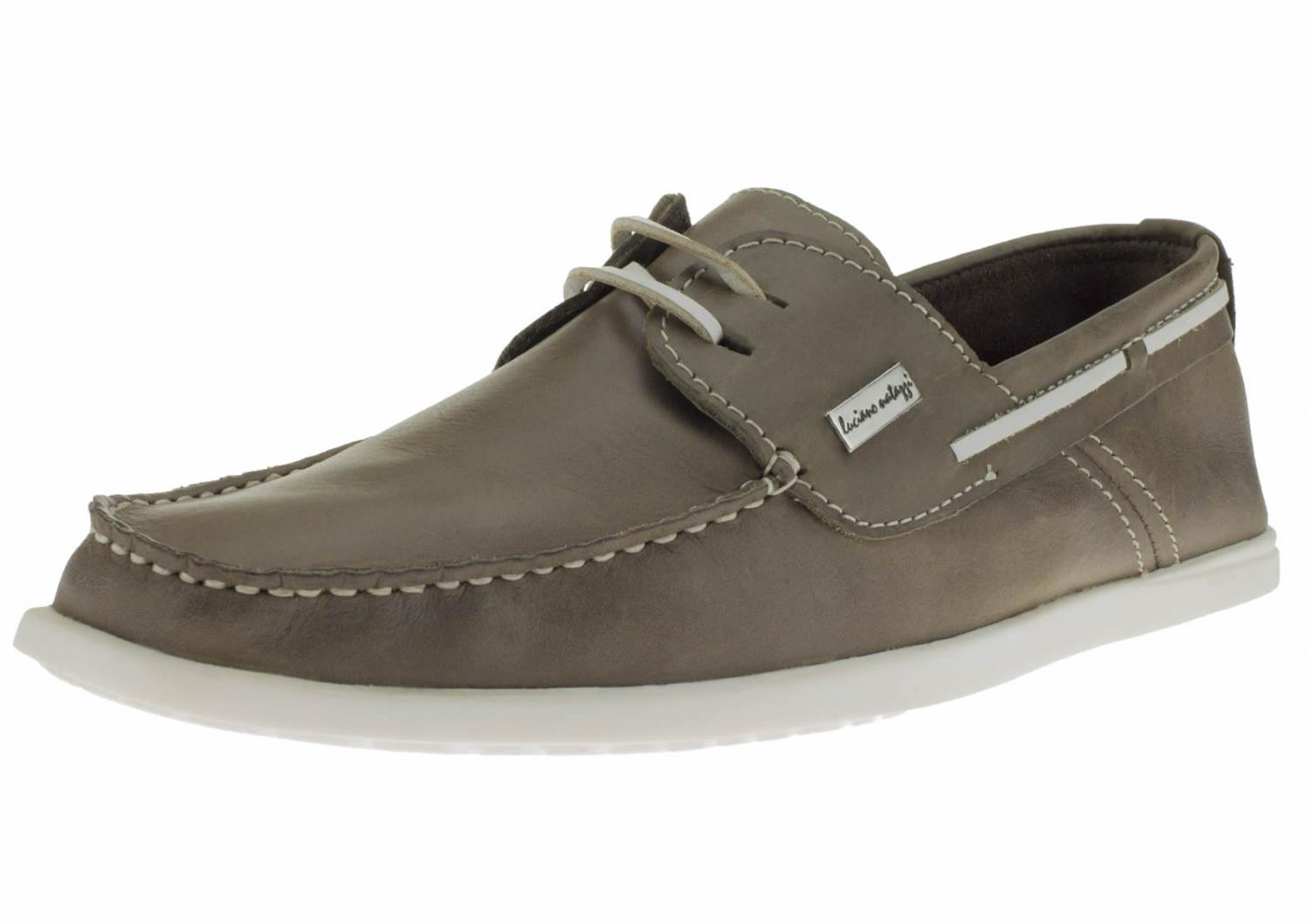Details about  /Luciano Natazzi Mens Leather Boat Shoes Original 2 Eye Yacht Club