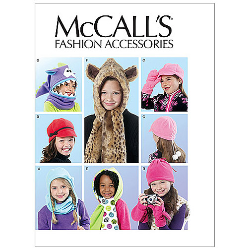 McCall's Pattern Children's and Girls' Hats, Cowl and Mittens, All Sizes