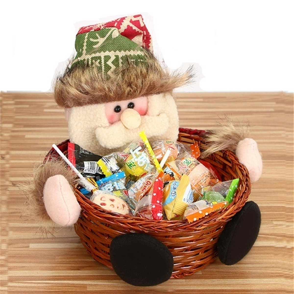 Halloween Christmas Candy Storage Basket Box Xmas Gift Home Decor