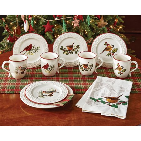 Winter Birds Mugs Set - Winter Mugs