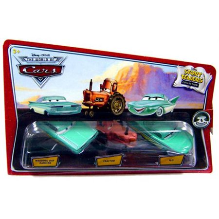 Disney Cars Story Tellers Wedding Day Ramone, Tractor & Flo Diecast Car 3-Pack