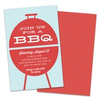 Personalized Vintage Grill BBQ Party Invitation
