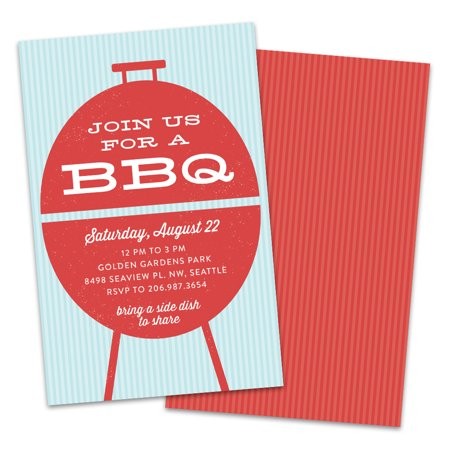 Personalized Vintage Grill BBQ Party - Printable Vintage Halloween Invitations