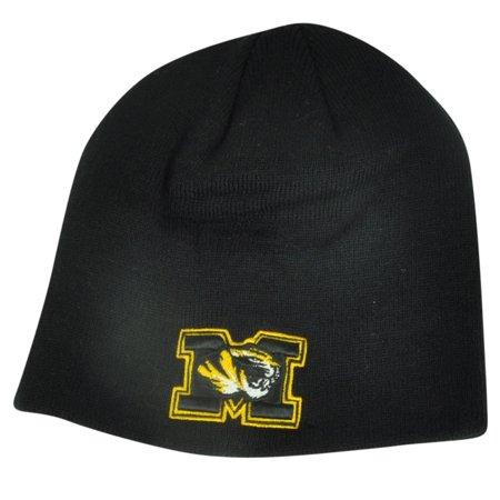 NCAA Missouri Tigers Top of the World Beanie Knit Cuffless Toque Black Mizzou