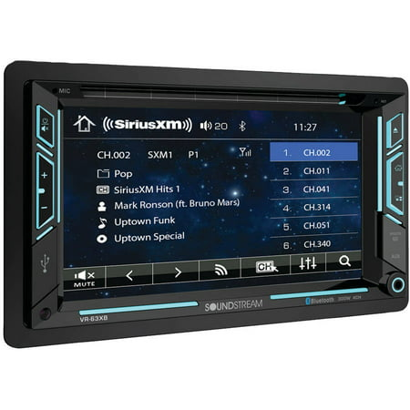 """Soundstream VR-63XB 6.2"""" Double-DIN In-Dash AptiX DVD Receiver with Bluetooth and SiriusXM Ready"""