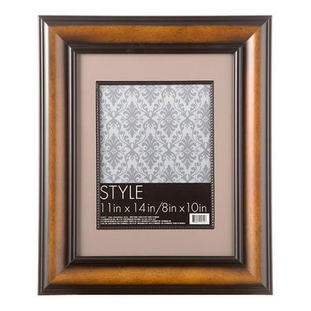 11 X 14 Beaded Wood Picture Frame Dark Walnut Walmart Com