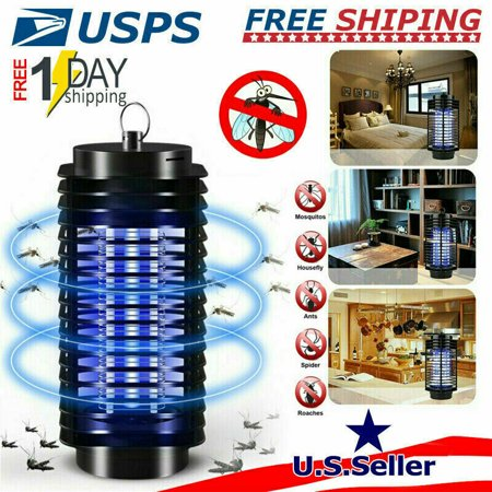 Indoor Bug Zapper Electronic Mosquito Killer Electric Fly Trap Uv Led Light Dilation Bug Lamp Mosquito Zapper Fly Zapper Insect Zapper Silent Mosquito Trap Repellent (Black)