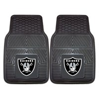 "Oakland Raiders 2-pc Vinyl Car Mats 17""x27"""